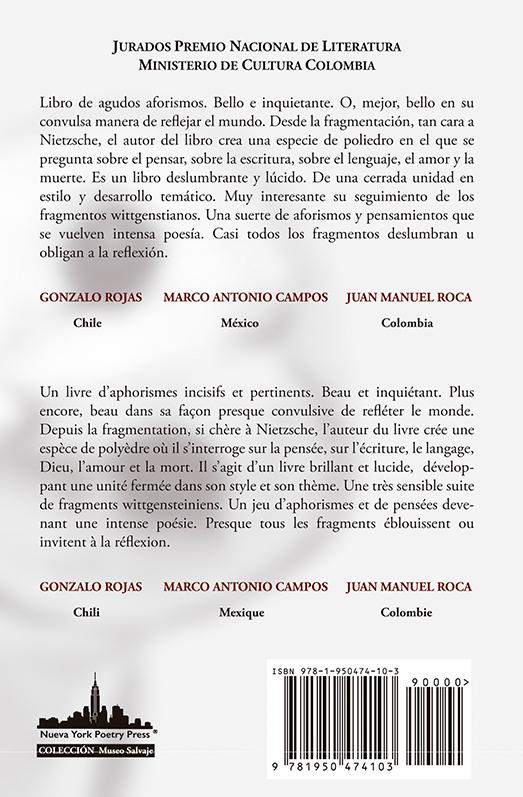 Abisinia-Review-Catálogo--El-diario-inédito-del-filósofo-vienés-Ludwing Wittgenstein--Fredy-Yezzed--Contratapa-Tienda-Comprar